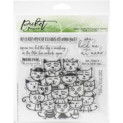 Picket Fence Studios - Ensemble d'estampes «Litter Of Cats» 6 pièces