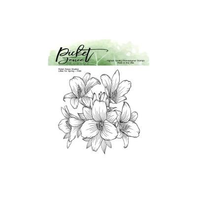 Picket Fence - Estampes «Lilies for Spring»