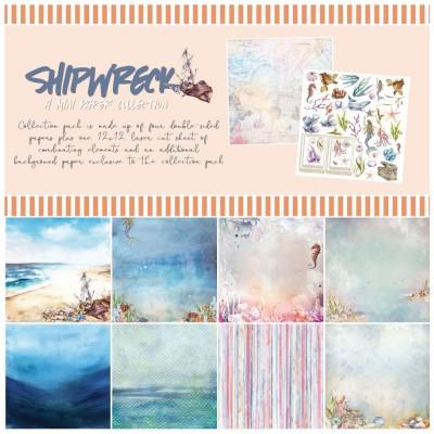 """49& Market  - bloc de papier collection «Shipwreck» 12 X 12"""""""