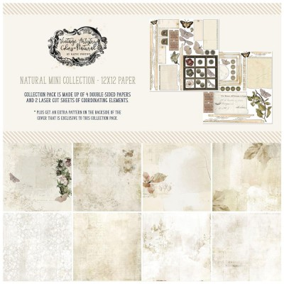 "49& Market - bloc de papier collection «Vintage Artistry Natural» 12 x 12"" 4 feuilles"