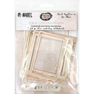49& Market - Éphéméras «Vintage Artistry Coral Stitch Frame » 6 pièces
