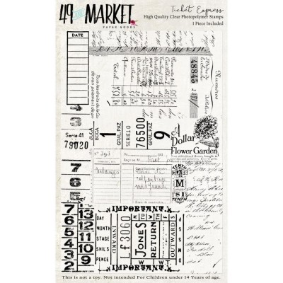"49 & Market - Clear Stamps «Ticket Express» 4"" x 6"""