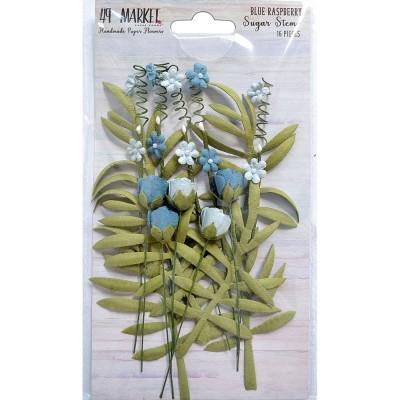 49 & Market - Collection «Sugar Stems» couleur «Blue Raspberry» 16 pcs