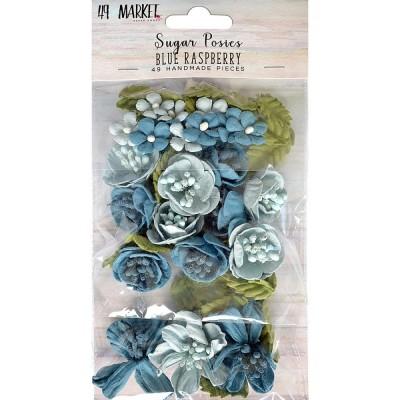 49 & Market - Sugar Posies «Blue Raspberry» 49/pqt