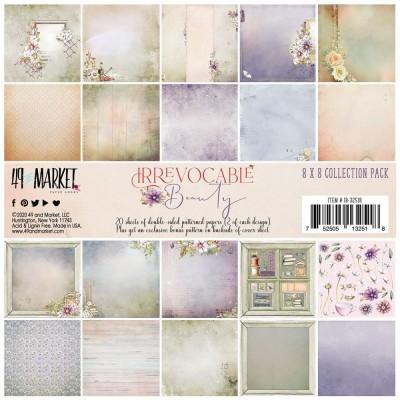 """49& Market  - bloc de papier collection «Irrevocable Beauty» 8"""" X 8"""" 20 feuilles"""