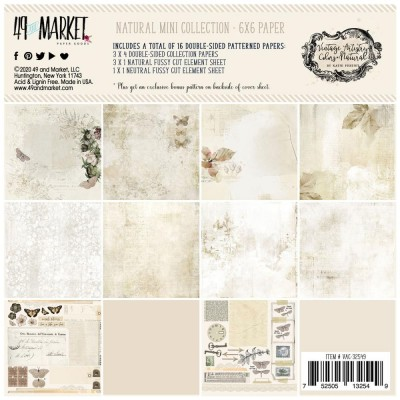 "49& Market - bloc de papier collection «Vintage Artistry Natural» 6 X 6"" 16 feuilles"