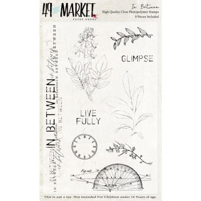 49 & Market - Clear Stamps «In Between» 9 estampes
