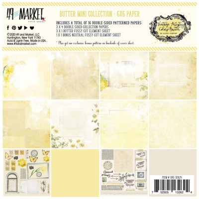 "49& Market - bloc de papier collection «Vintage Artistry Butter» 6 X 6"" 16 feuilles"