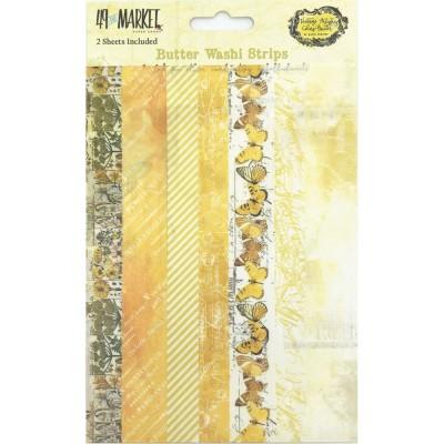 PRÉCOMMANDE - 49 & Market - Ensemble de washi strips collection «Vintage Artistry Butter»