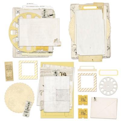 49& Market - Éphéméras «Vintage Artistry Butter Nouveau Collage Stack » 34 pièces