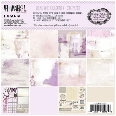 """49& Market - bloc de papier collection «Vintage Artistry Lilac» 6 X 6"""" 16 feuilles"""