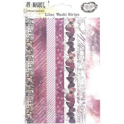 PRÉCOMMANDE - 49 & Market - Ensemble de washi strips collection «Vintage Artistry Lilac»