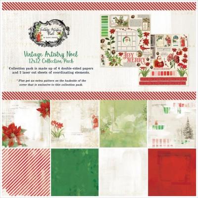 """49& Market - bloc de papier collection «Vintage Artistry Noel» 12 x 12"""" 4 feuilles"""