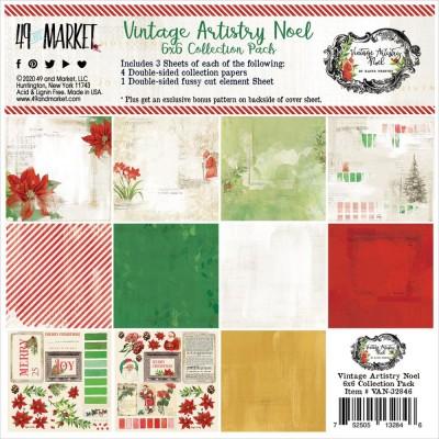 """49& Market - bloc de papier collection «Vintage Artistry Noel» 6 X 6"""" 16 feuilles"""