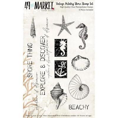 49& Market - Estampes «Vintage Artistry Sage Stamp Set» 11 pièces