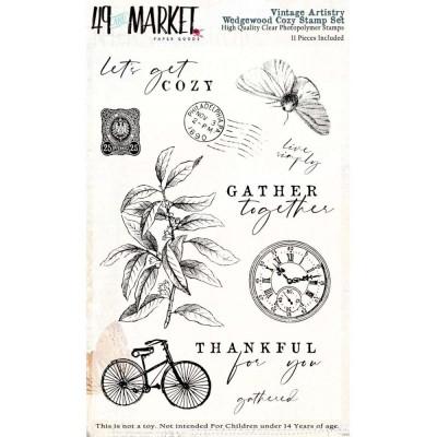 49& Market - Estampes «Vintage Artistry Wedgewood Set» 11 pièces