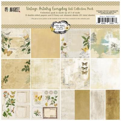 """49& Market - bloc de papier collection «Vintage Artistry Everyday» 6 X 6"""" 16 feuilles"""