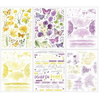 49 & Market - Rub-Ons «Butter & Lilac» de la collection «Vintage Artistry»