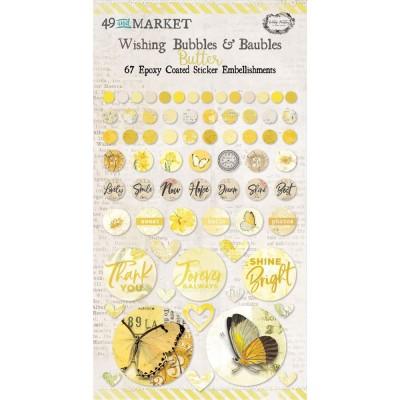 49 & Market - Autocollants «Wishing Bubbles & Baubles» collection «Vintage Artistry Butter»