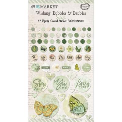 49 & Market - Autocollants «Wishing Bubbles & Baubles» collection «Vintage Artistry Sage»