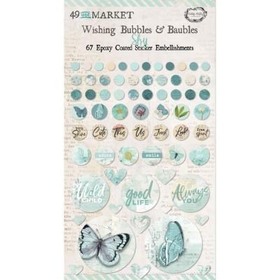 49 & Market - Autocollants «Wishing Bubbles & Baubles» collection «Vintage Artistry Sky»