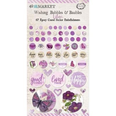 49 & Market - Autocollants «Wishing Bubbles & Baubles» collection «Vintage Artistry Lilac»