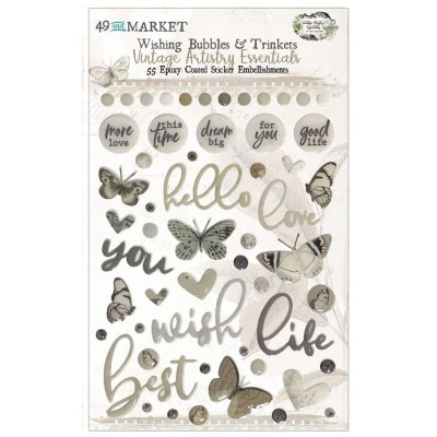 49 & Market - Autocollants «Wishing Bubbles & Baubles» collection «Vintage Artistry Essentials»