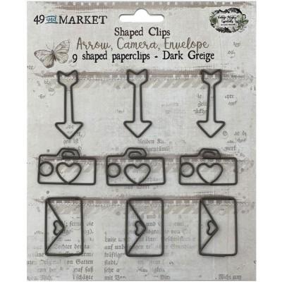 49 & Market - Trombone «Arrow, Camera, Envelope» couleur «Dark Greige» collection «Vintage Artistry»