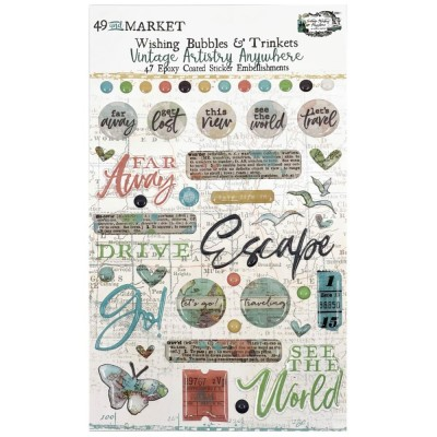 49 & Market - Autocollants «Wishing Bubbles & Trinkets» collection «Vintage Artistry Anywhere»