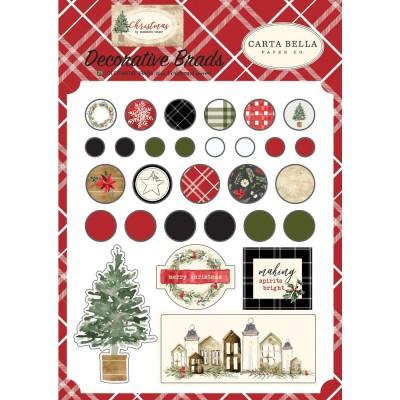 Carta Bella - Brads «Christmas» pqt de 25