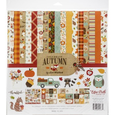 "Echo Park - Bloc de  papier double face ""Celebrate Autumn""  12"" X 12""   12 feuilles"