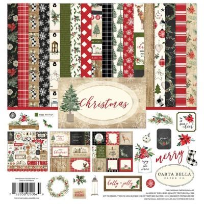 """Carta Bella - ensemble de papier recto-verso  «Christmas» 12"""" X 12"""""""