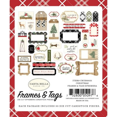Carta Bella - Éphéméra «Frames & Tags» ensemble  33pcs