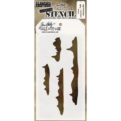 """Tim Holtz - Layered Stencil «Snowcap» 4.125"""" X 8.5"""""""