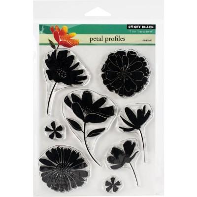 Penny Black - Estampes claires «Petal Profiles» 8 pcs