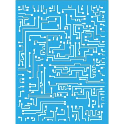 "DecoArt Americana - Stencil 6"" X 8"" modèle «Short-circuit»"