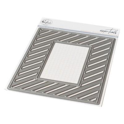 Pinkfresh Studio - Matrice de découpe modèle «Fancy Diagonal Stripes W/Window»