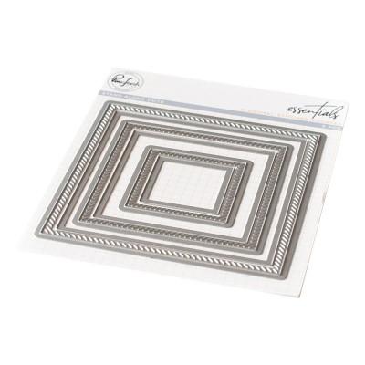 Pinkfresh Studio - Matrice de découpe modèle «Diagonal Stitched Squares»