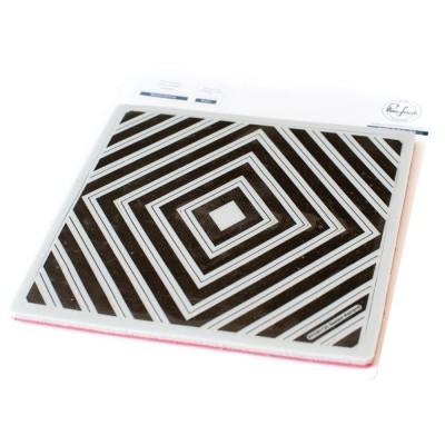 Pinkfresh Studio - Estampes modèle «Nested Diamond Background» 18 pcs