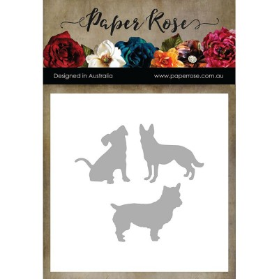 Paper Roses - Dies «Three Little Dogs»