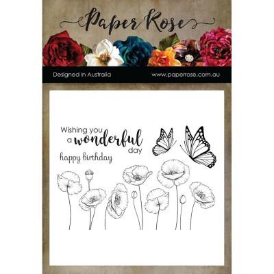 "Paper Roses - Estampes «Poppies» 4"" X 6"""
