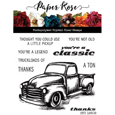 Paper Roses - Estampe «Vintage truck» 9 pcs
