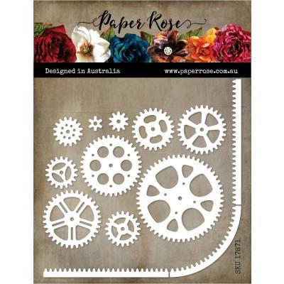 Paper Roses - Dies «Cogs & Track Border» 13 pcs