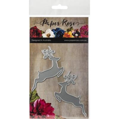 Paper Roses - Dies «Jumping Reindeer»