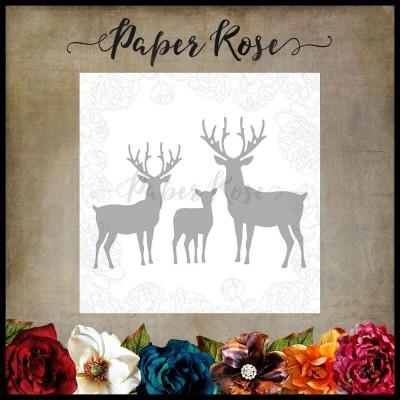 Paper Roses - Dies «Reindeer Family»