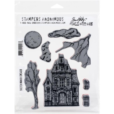 Tim Holtz - Stampers Anonymous «Sketch Manor»  8 pièces