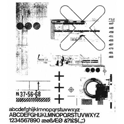PRÉCOMMANDE- Tim Holtz  -Stampers Anonymous «Glitch 2»  8 modèles différents
