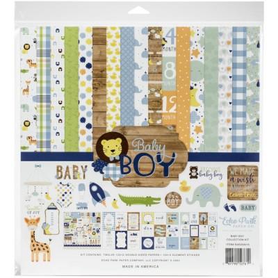 """Echo Park - Bloc de  papier double face """"Baby Boy""""  12"""" X 12""""   12 feuilles"""