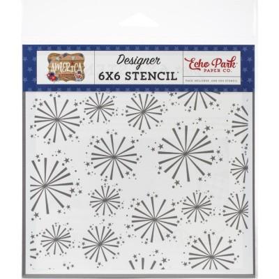 "Echo Park - stencil «Festive Fireworks» 6"" X 6"""