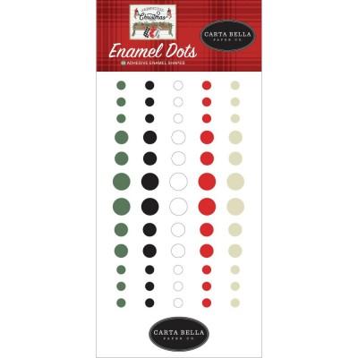 PRÉCOMMANDE Carta Bella - Enamel dots «Farmhouse Christmas» 60/ Pqt